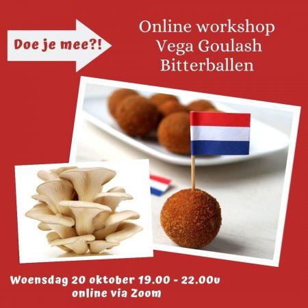 goulash bitterballen vegetarisch online workshop