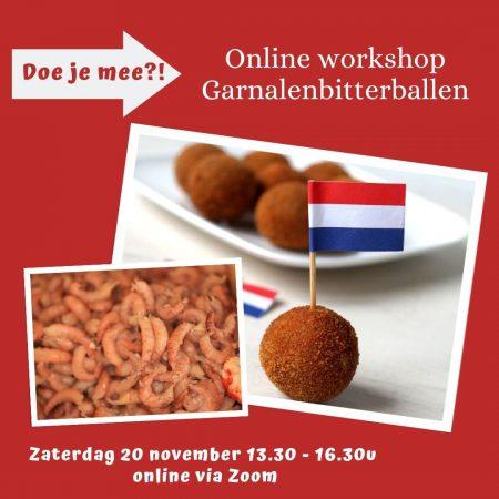 online workshop garnalen bitterballen