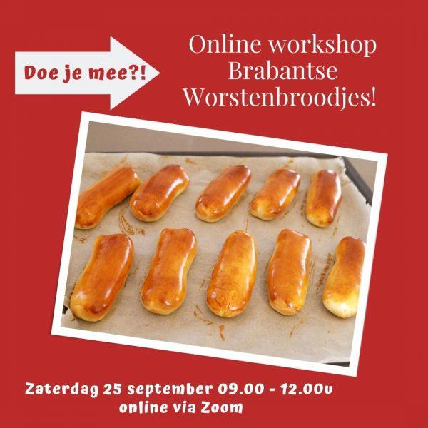 online workshop worstenbroodjes 25 september 2021